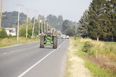 Farm Equipment on Roadway — Stock Photo