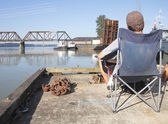 Relaxing by the River — Stockfoto