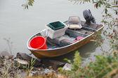 Small Metal Fishing Boat — Stock Photo