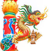 Dragon in a Chinese temple — Stock Photo