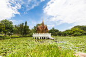 Thai temple on the water — Stock Photo