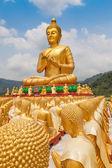 золотой будда в парке мемориала будды — Стоковое фото