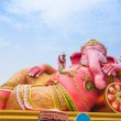Pink Ganesha in relaxing protrait on blue sky — Stockfoto