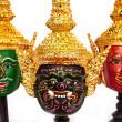 Native Thai style  giant mask — Foto Stock