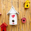 Colorful collection of birdhouses — Stock Photo #32198363