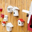 Stock Photo: Colorful collection of birdhouses