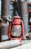Old lamp, Hurricane lamp — Stock Photo