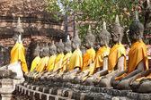 Posągów buddy w świątyni — Zdjęcie stockowe