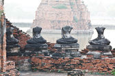 Buddha statues and Floods — Stock Photo
