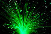 кучу оптического волокна динамических, летевший из глубокой. — Стоковое фото