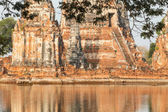 Floods Chaiwatthanaram Temple at Ayutthaya — Stok fotoğraf