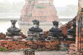 Las inundaciones y estatuas de buda — Foto de Stock
