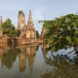 Floods Chaiwatthanaram Temple at Ayutthaya — Stock Photo