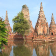 Floods Chaiwatthanaram Temple at Ayutthaya. — Stock Photo #32444315
