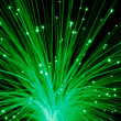 Abstract green fibre optic light — Stock Photo