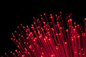 Bunch of Fiber Optic dynamic flying from deep. — Stock Photo