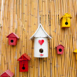 Colorful collection of birdhouses — Stock Photo #32450575