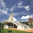 Thai temple and nice blue sky  in northern Thailand. — Stock Photo