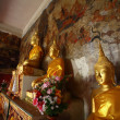 Stock Photo: Golden Buddhas.