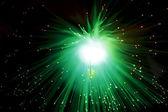 Montón de fibra óptica dinamic volando desde lo más profundo — Foto de Stock