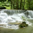 Waterfall in deep forest at Kanchanaburi, Thailand  — Stock Photo