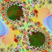 Abstract light fractal background — Foto Stock