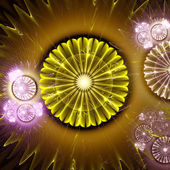 Abstract light fractal background — Stock Photo