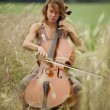 Stock Photo: Playing Cello