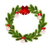 Fondo con árbol de navidad — Vector de stock