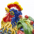 Pottery rooster — Stock Photo