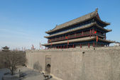 The ancient city wall of xi'an — Stock Photo