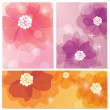 Vector card set with flower design — ストックベクター #12681834
