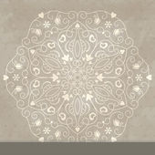 Cartão do convite do laço com floral abstrato. — Vetorial Stock