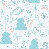 Seamless pattern snowflake. — Stockvektor