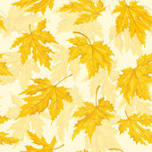 Seamless pattern with autumn leaves. Maple leaf. — Stock Vector