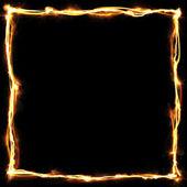 Black background abstract golden frame design — ストック写真