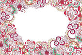 Floral ornament invitation background — Stock Vector