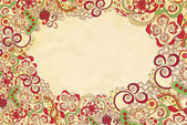 Stylised floral ornament invitation background — Stock Vector