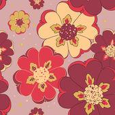 Bright flower seamless pattern — Stock Vector
