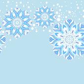 Padrão sem emenda de floco de neve de inverno — Vetorial Stock