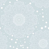 Vinter snöflinga seamless mönster — Stockvektor