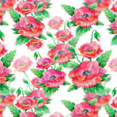 Seamless pattern with poppy flowers — Stock Photo