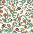 Vintage flower  seamless pattern — Stock Vector