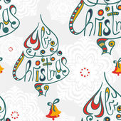 Merry christmas congratulation seamless pattern — Stock Vector
