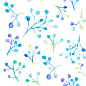 Floral watercolor seamless pattern — Vecteur