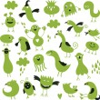 Set of cute little monsters - Stock Vector