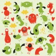 Set of cute monsters — Stock Vector