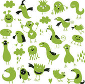 Set of cute little monsters — Stock Vector