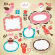 Set kids icon, frames and decor elements — Stock Vector #13365282