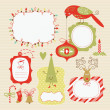 Set of Christmas and New Year elements — Stock Vector